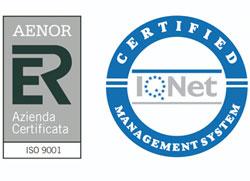 Azienda Certificata Aenor ISO 9001